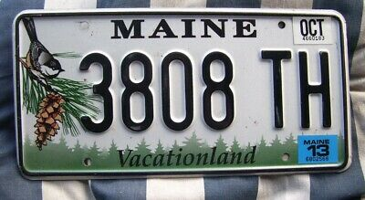 Maine - American License Number Plate #Me