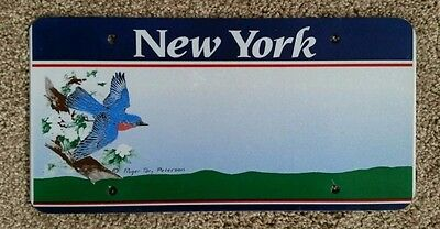New York Sample Graphic License Plate Blank Prototype The Empire State Bird