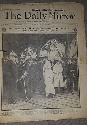 """Daily Mirror 1911 : """"Naval Review Number"""" ***VGC for age***"""