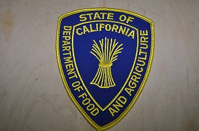 State Of California, Department of Food and Agriculture  Patch   ( New )