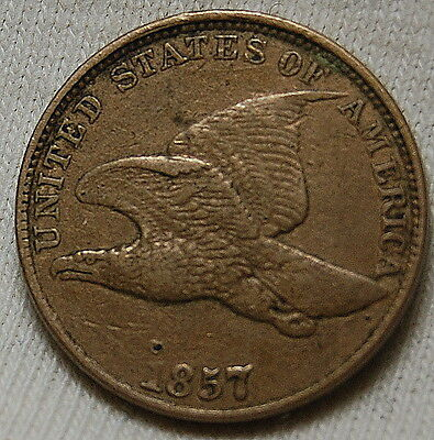 1857 Flying Eagle Cent Xf Near Problem Free Penny #721