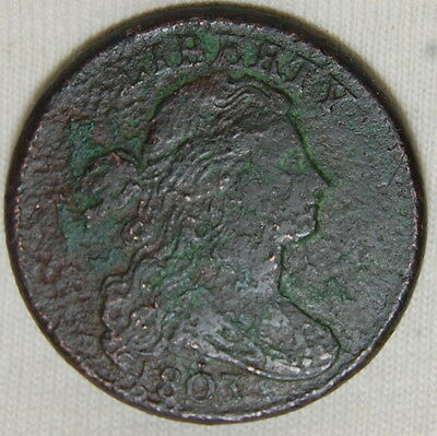 1803 Draped Bust Large Cent Small Date Large Fraction Vf 1C Us Coin #466