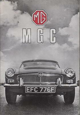 Mg Mgc 3.0 Litre Gt Coupe & Roadster Original 1969 Owners Instruction Handbook