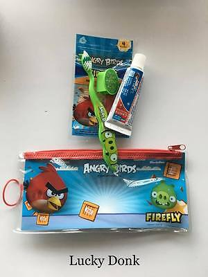 Firefly Angry Birds Green Pig Toothbrush Travel Kit w/ Cap, Toothpaste and Floss
