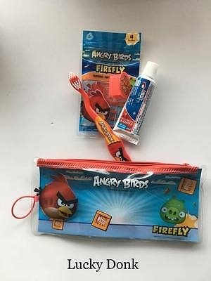 Firefly Angry Birds Red Bird Toothbrush Travel Kit w/ Cap, Toothpaste and Floss