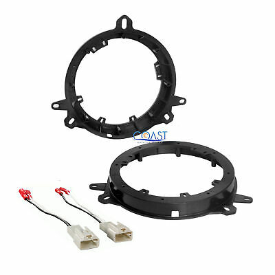 "Car 6"" to 6.75"" Front Speaker Adapters Harness for 2001-up Toyota Lexus Scion"