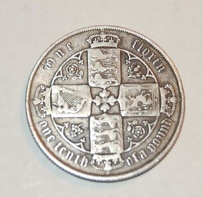 1879 Great Britain Silver One Florin