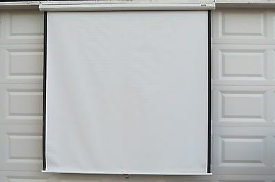 "Da-Lite Model B Matte White Manual Projection Screen 69"" H x 72"" W"