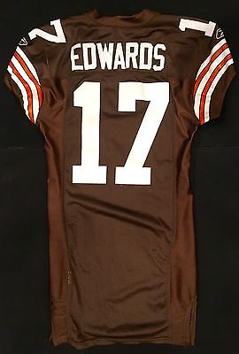 Braylon Edwards Authentic Game Worn / Used Cleveland Browns Brown Jersey
