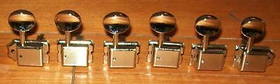"Fender® Vintage Tuners RH Strat/Tele Nickel~11/32"" Bushings & Screws Brand New"