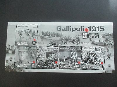 Australian Decimal Stamps: Mini Sheet - 2015 Gallipoli - Used