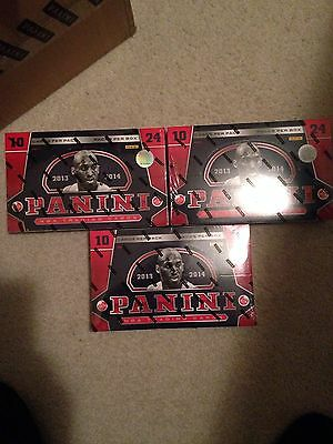 2013-14 Panini Basketball Sealed 3 Hobby Box Lot Giannis RC Auto? 2 Auto's