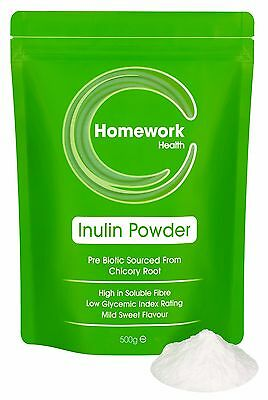 Inulin Powder - Prebiotic Soluble Dietary Fibre Sourced From Chicory Root - FOS