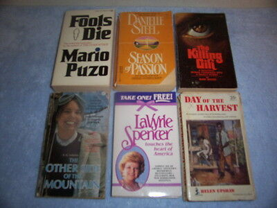 Vintage Lot Of 6 Paperback Books From The 1950's, 1970's & 1990's