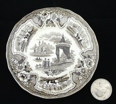 """Antique Adams 4"""" Cup Plate Or Miniature Plate Thin Butter Pat Perhaps"""
