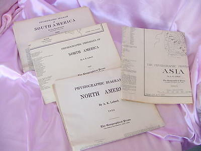 1935 , 45 , 48 , 50  Physiographic South & North America & Asia Diagram Maps Nr