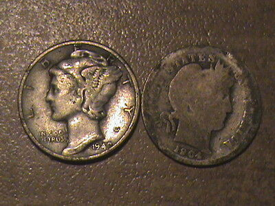 Lot Of 2 Silver Dimes