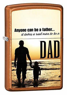Zippo Dad Anyone Can Be A Father Translucnet Toffee Windproof Lighter 28373