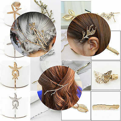 NEW 50 Styles Crystal Rhinestone Hairpins Hair Clips Gold Silver Wedding Jewelry