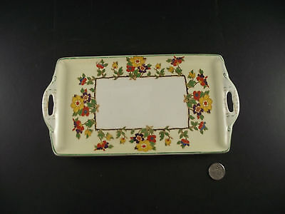 """Rockford """" No Not That One """"  Grindley 10"""" X 6"""" Tray With Floral Pattern"""