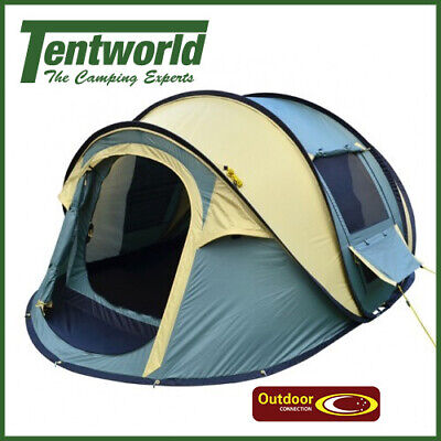 Outdoor Connection Easy Up 3 Man / Person Pop Up Camping  Tent