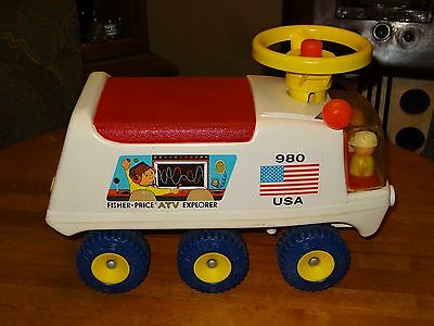 1974 Fisher Price 980 ATV Explorer Ride On Toy VERY RARE !! Great Christmas Gift