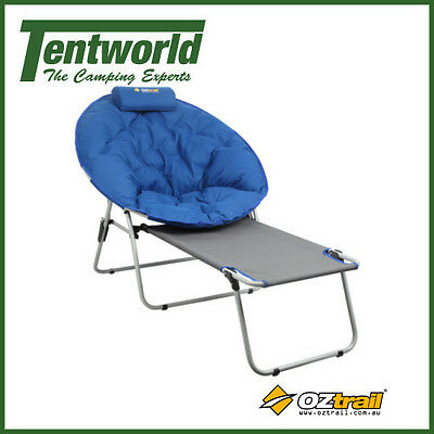OZtrail Jupiter Moon Chair with Footrest