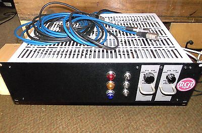 2 Vintage Rca Ba-21A Valve Microphone Pre Amps In 3U Rack With Phantom Power