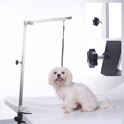 NEW Pet Dog Foldable Grooming Arm Bracket Adjustable Clamp Loop for The Table