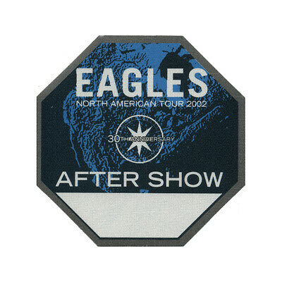 The Eagles authentic Aftershow 2002 tour Backstage Pass