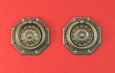 Per Pair - Med. Regency Style Drop Ring Drawer Pulls #458382 *MORE AVAILABLE*