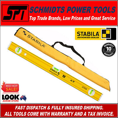 STABILA 1200mm SPIRIT LEVEL 80A-2/120 TRADE RIBBED SERIES & CARRY CASE 1.2m New