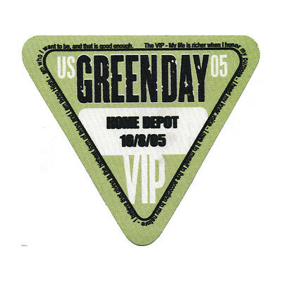 Green Day authentic VIP 2005 tour Backstage Pass