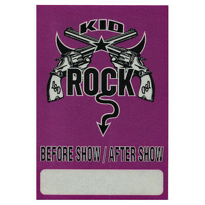 Kid Rock authentic Aftershow 1999 tour Backstage Pass