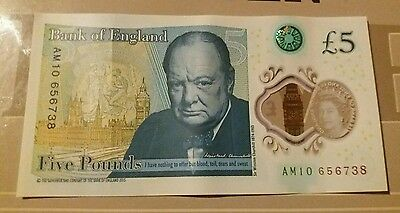 Am 10 Five Pound Note. Bank Of England.