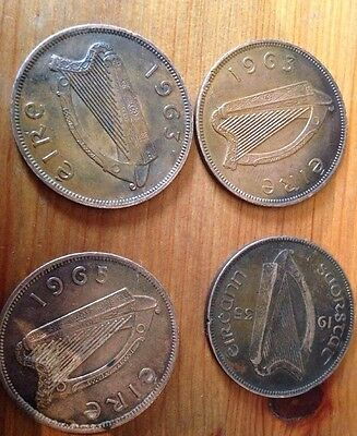 Irish Eire 1d X 4 Coins 1935, 1961, 1963 X 2 And 1965