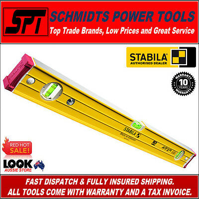 STABILA 1200mm MAGNETIC SPIRIT LEVEL TRADE RIBBED FRAME 96-2-M/120 1.2m 120cm