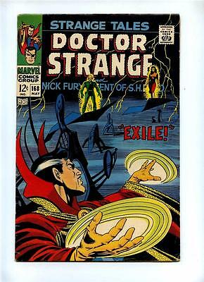 Strange Tales #168 - Marvel 1968 - VG/FN - Last Nick Fury Issue - Doctor Strange