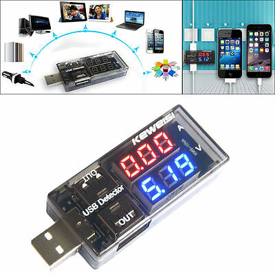 2 in 1 USB Voltmetro Ammeter Charger Doctor Current Voltage Charging Detector