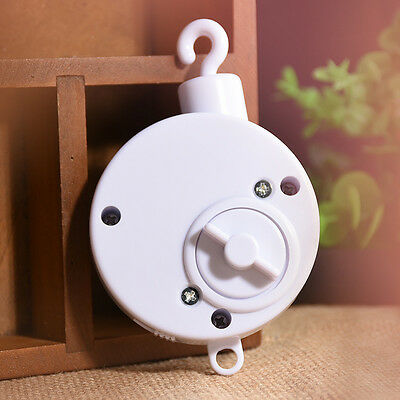 Baby Crib Rotary Toys Kids Bedding Clockwork Mobile Movement Music Box White