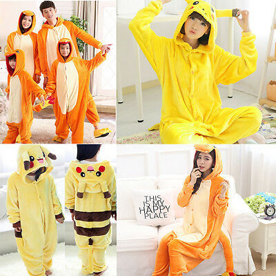 New Kid Adult Animal Pajamas Costume Pokemon Pikachu Charmander Onesie Kigurumi