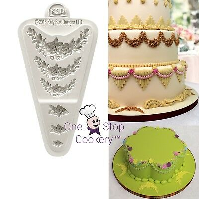 Katy Sue ROSE MEDLEY Silicone Mould Creative Cake System FREE P&P