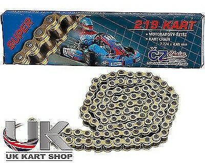 CZ 114 Kettenglied 219 Pitch Gold Rennsport-kette UK KART STORE