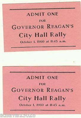 Governor Reagan City Hall Steps Rally Paterson NJ Event October 1 1980 President