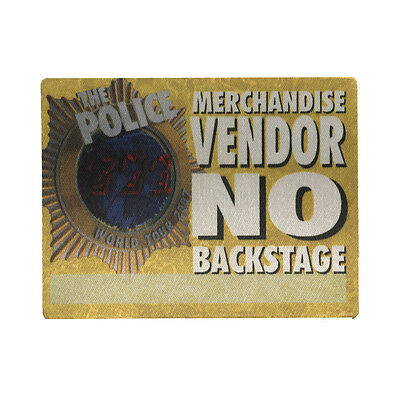 The Police authentic Vendor 2007-2008 tour Backstage Pass