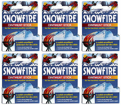 6 x Ransom Pickles Snowfire Ointment Sticks 18g Cracked Dry Damaged Hands Skin