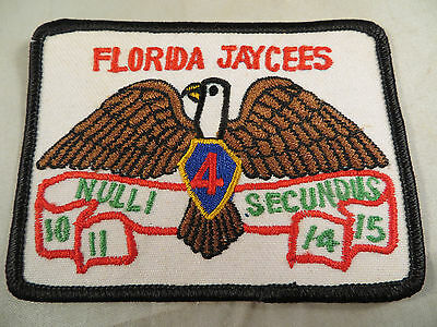 Vintage Florida Jaycees Embroidered Patch