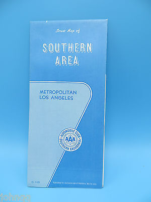 Vintage 1988 AAA Map - Los Angeles Southern Area