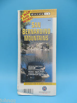 2000 San Bernardino Mountains California Guide Map and Points of Interest