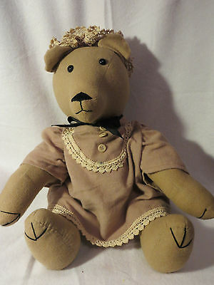"Large Stuffed Plush Granny Bear 18"" - ""Erich"" a Hinzeit Bear"